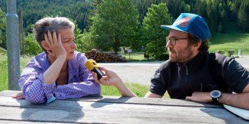 Radiointerview am Zahmen Gamseck