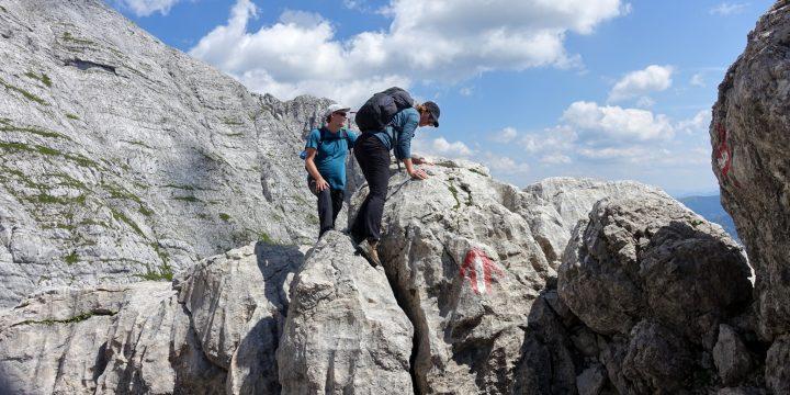 Es gibt leichte Kletterstellen