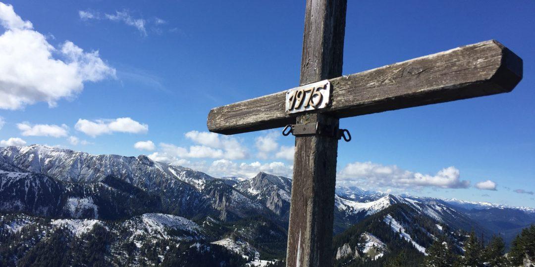 Gipfelfoto Großer Sonnleitstein, Blick auf Schneealpe. Foto: Petra Jens
