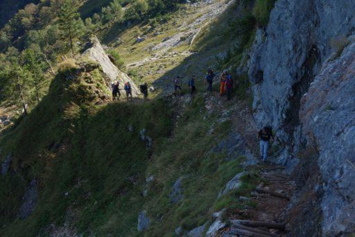 "Kurz vor der ""Kletterpassage"". Foto: Peter Backé"