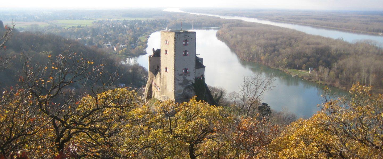 Burg Greifenstein vom Malerfelsen. Foto: Johann Fischer