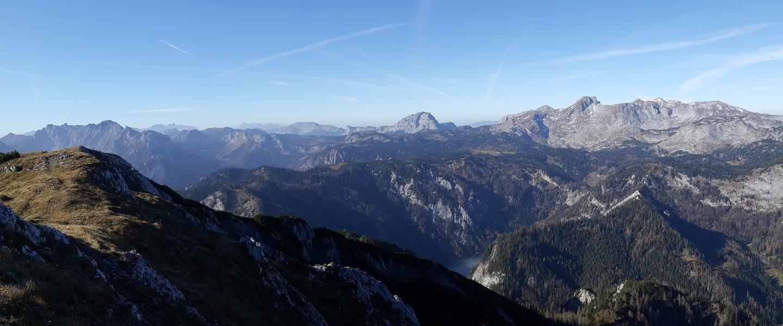 Aussicht vom Gipfel der Meßnerin