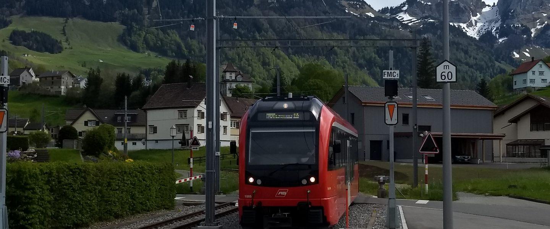 Appenzeller Bahn in Weissbad. Foto: Nikolaus Vogl