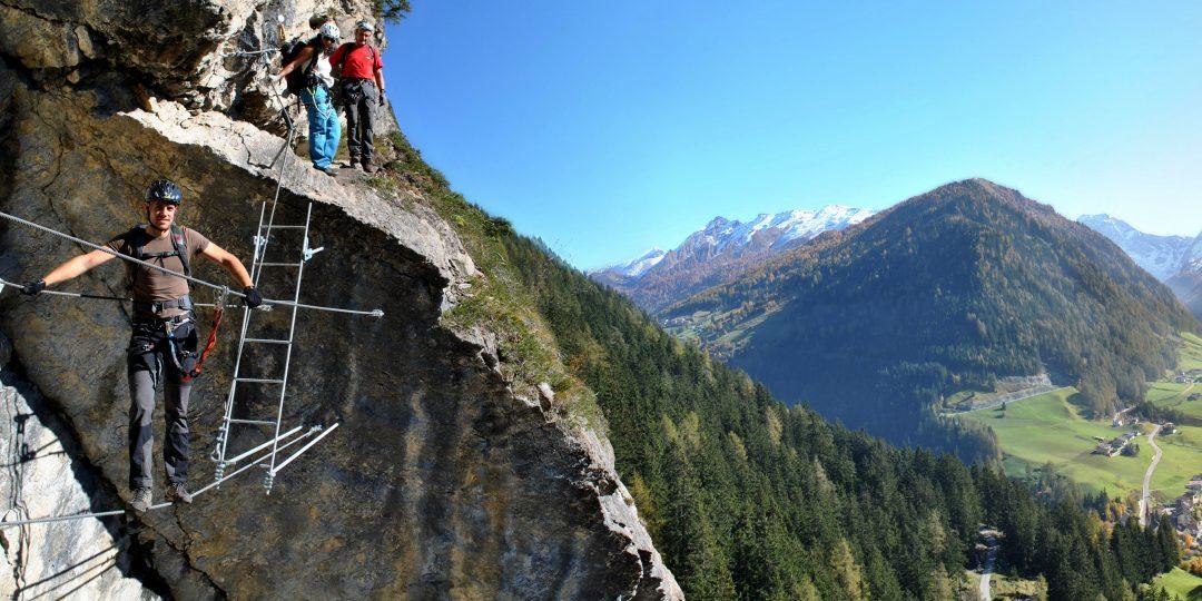 Peter Kofler Klettersteig. Foto: Judith Hammer