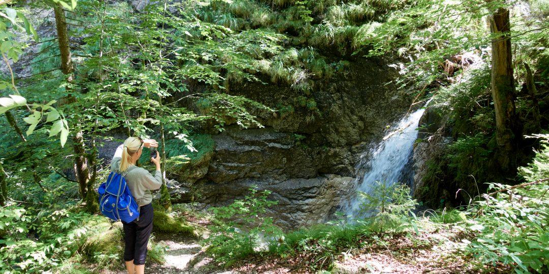 Wasserfall Spitzenbachklamm. Foto: Martin Heppner