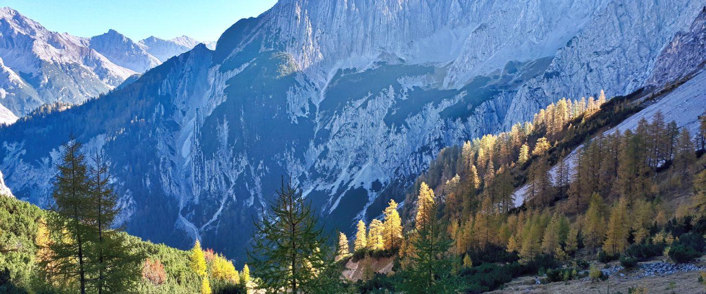 Goldener Herbst im Karwendel. Foto: Konrad Gwiggner